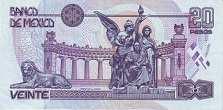 Мексика: 20 песо 1994-99 г.