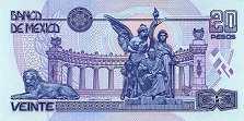 Мексика: 20 песо (юбилейная) 2000 г.