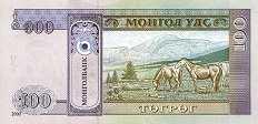 Монголия: 100 тугриков 2000 г.