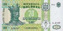 Молдавия: 20 леев 1992-2013 г.