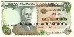 Мозамбик: 1000 эскудо 1972 (1976) г.