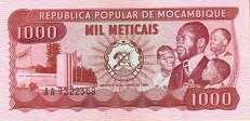 Мозамбик: 1000 метикалов 1980 г.