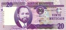 Мозамбик: 20 метикалов 2006 г.