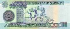 Мозамбик: 200000 метикалов 2003 г.