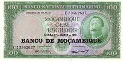 Мозамбик: 100 эскудо 1961 (1976) г.
