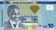 Намибия: 10 долларов 2012-13 г.