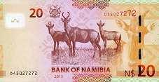 Намибия: 20 долларов 2011-13 г.