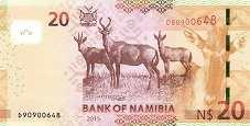 Намибия: 20 долларов 2015 г.
