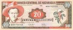 Никарагуа: 20 кордобов 1995 г.