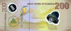 Никарагуа: 200 кордобов 2007 г.