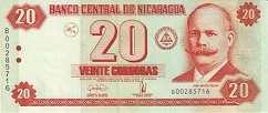 Никарагуа: 20 кордобов 2006 г.