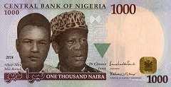 Нигерия: 1000 найр 2005-18 г.