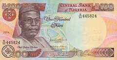 Нигерия: 100 найр 1999-2014 г.