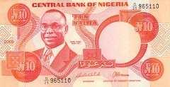 Нигерия: 10 найр (1984)-2005 г.