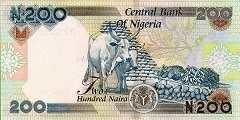 Нигерия: 200 найр 2000-18 г.