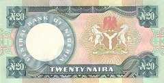 Нигерия: 20 найр (1984)-2006 г.