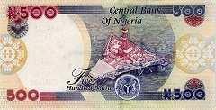 Нигерия: 500 найр 2001-17 г.