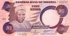 Нигерия: 5 найр (1984)-2005 г.
