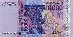 Нигер: 10000 франков CFA-BCEAO 2003-16 г.