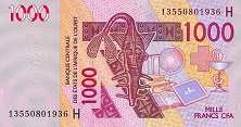 Нигер: 1000 франков CFA-BCEAO 2003-16 г.