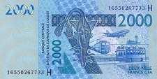 Нигер: 2000 франков CFA-BCEAO 2003-16 г.