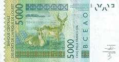 Нигер: 5000 франков CFA-BCEAO 2003-16 г.