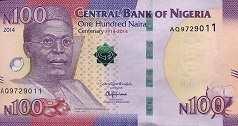 Нигерия: 100 найр (юбилейная) 2014 г.
