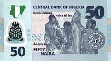 Нигерия: 50 найр 2009-18 г.