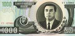 КНДР: 1000 вон 2002 г.