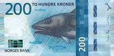 Норвегия: 200 крон 2016 г.