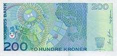 Норвегия: 200 крон 1994-2000 г.