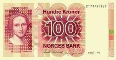 Норвегия: 100 крон 1983-1994 г.
