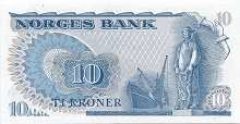 Норвегия: 10 крон 1972-84 г.