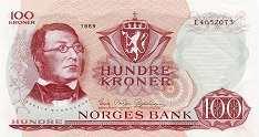 Норвегия: 100 крон 1962-77 г.