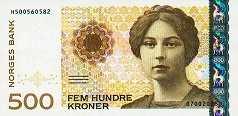 Норвегия: 500 крон 1999-2015 г.