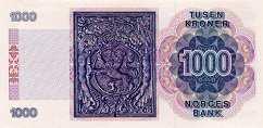 Норвегия: 1000 крон 1998 г.