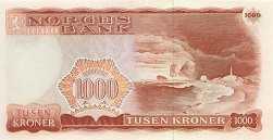 Норвегия: 1000 крон 1975-87 г.