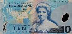 Новая Зеландия: 10 долларов (1999-2014 г.)