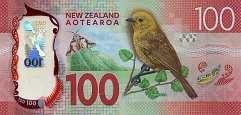 Новая Зеландия: 100 долларов (2016 г.)
