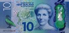 Новая Зеландия: 10 долларов (2015 г.)
