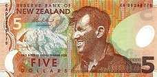 Новая Зеландия: 5 долларов (1999-2014 г.)