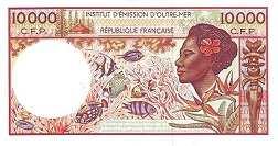 Французские Тихоокеанские Территории: 10000 франков (1985-2010 г.)