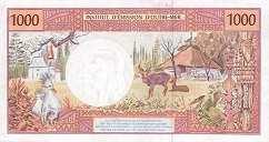 Французские Тихоокеанские Территории: 1000 франков (1992-2013 г.)