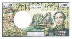 Французские Тихоокеанские Территории: 5000 франков (1992-2010 г.)