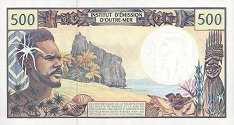 Французские Тихоокеанские Территории: 500 франков (1990-2012 г.)