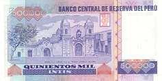 Перу: 500000 инти 1988-89 г.