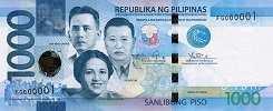 Филиппины: 1000 песо 2010-19 г.