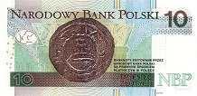 Польша: 10 злотых 2012-16 г.