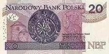 Польша: 20 злотых 2012-16 г.