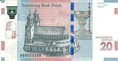 Польша: 20 злотых 2015 г. (Баптизм)